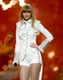 Taylor Swift took the stage in all white.