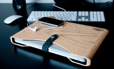 Photos of the Blackbox Wooden MacBook Case