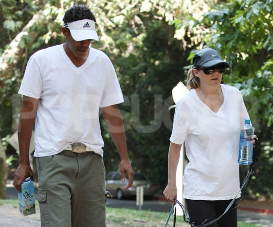 Photo Slide of Pregnant Ellen Pompeo and Chris Ivery Walking in the Hollywood Hills