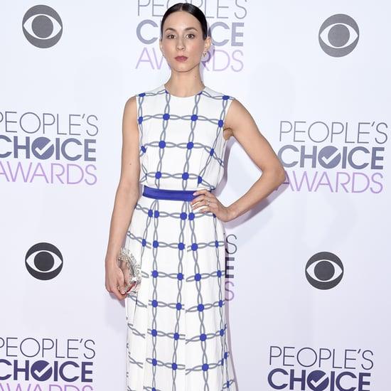 Troian Bellisario Flips Off Camera at People's Choice Awards