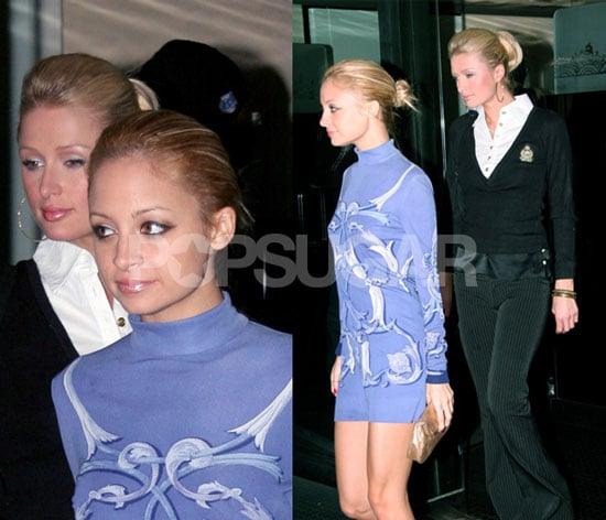 Nicole and Paris Meet for Dinner, Conservative Dress