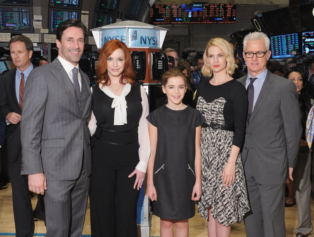 The Cast of Mad Men Gets Up Early For the NYSE Following a Chatty Night