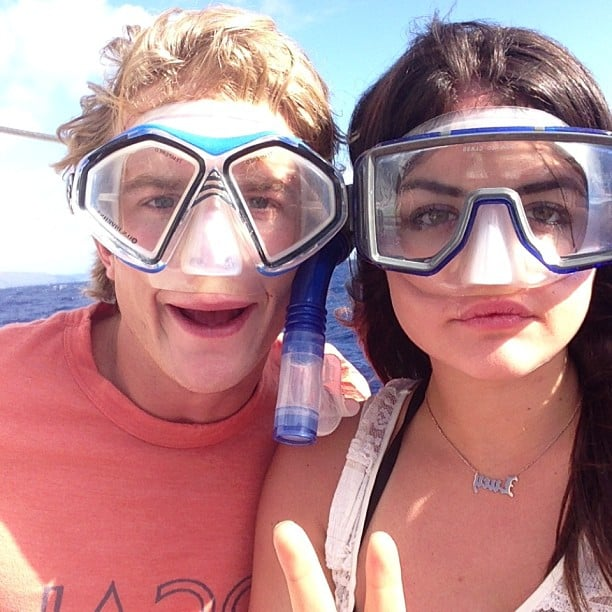 Lucy Hale tried her hand at snorkeling with a pal. Source: Instagram user lucyhale