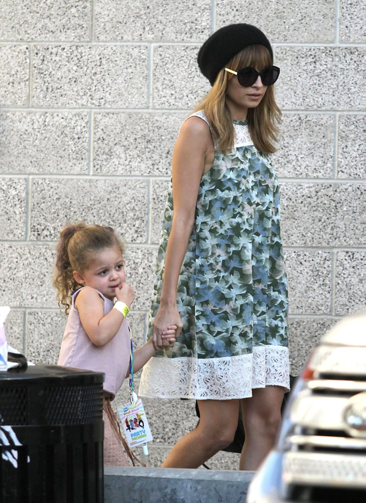 Nicole Richie and Harlow Madden held hands on the way to a concert in LA.