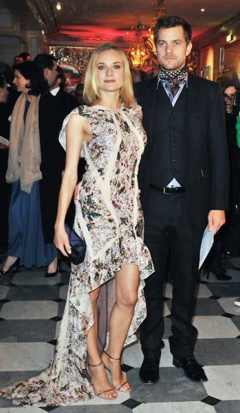 Donning a high-low hem, Diane chose a Ralph Lauren gown for the Fashion Dinner For AIDS in Paris in 2009.