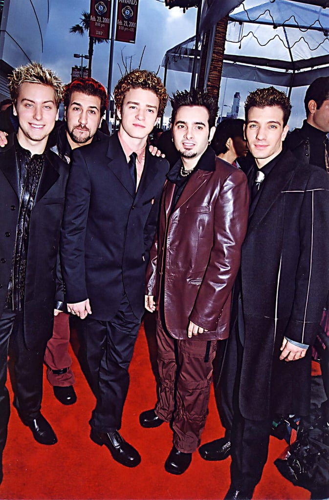 Sigh — the good old days. Justin hit the red carpet with his *NSYNC bandmates in 2000, marking what would be the kick-off for lots of suit-and-tie moments to come.