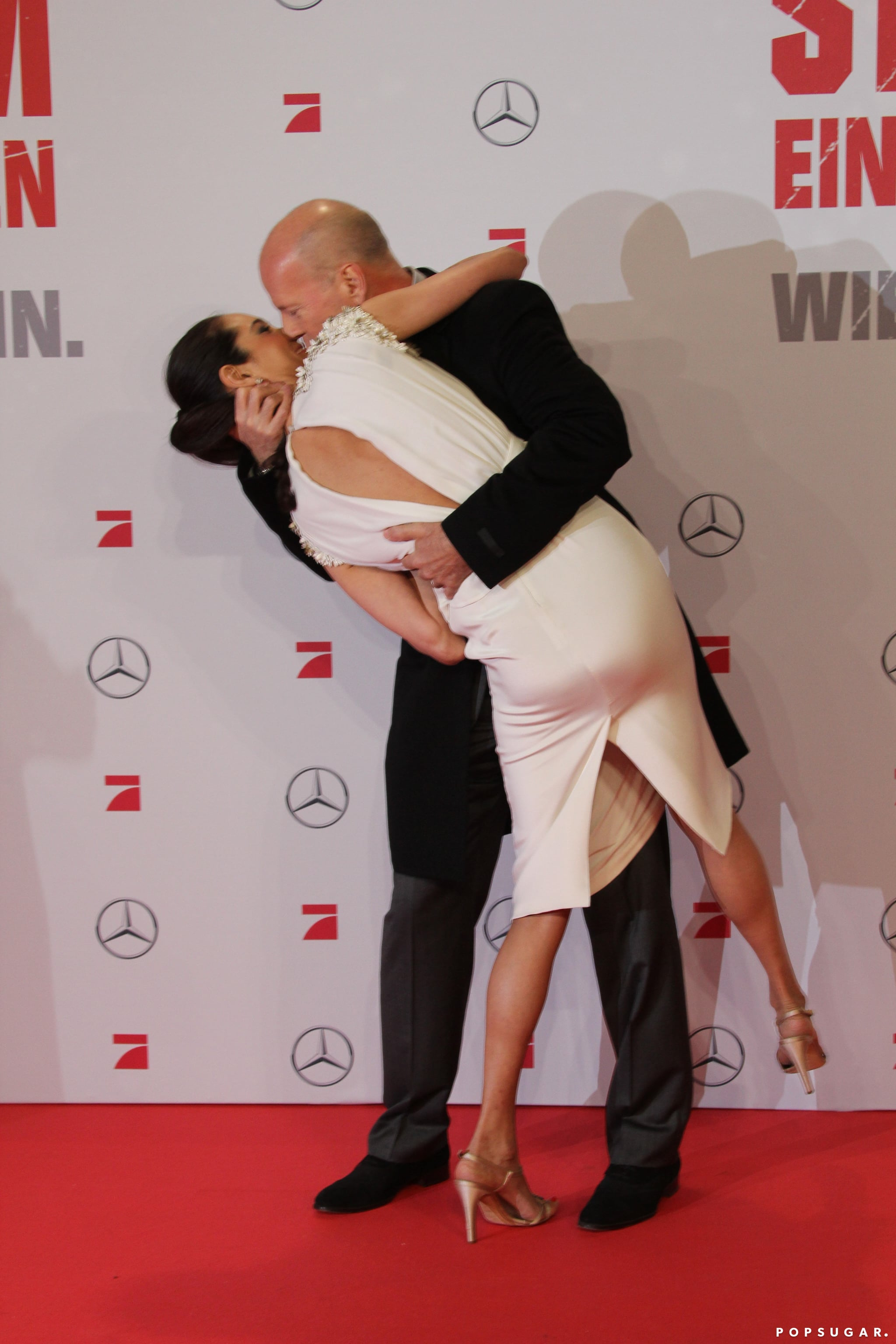 Bruce Willis swept Emma Heming off her feet in Germany in February 2013.