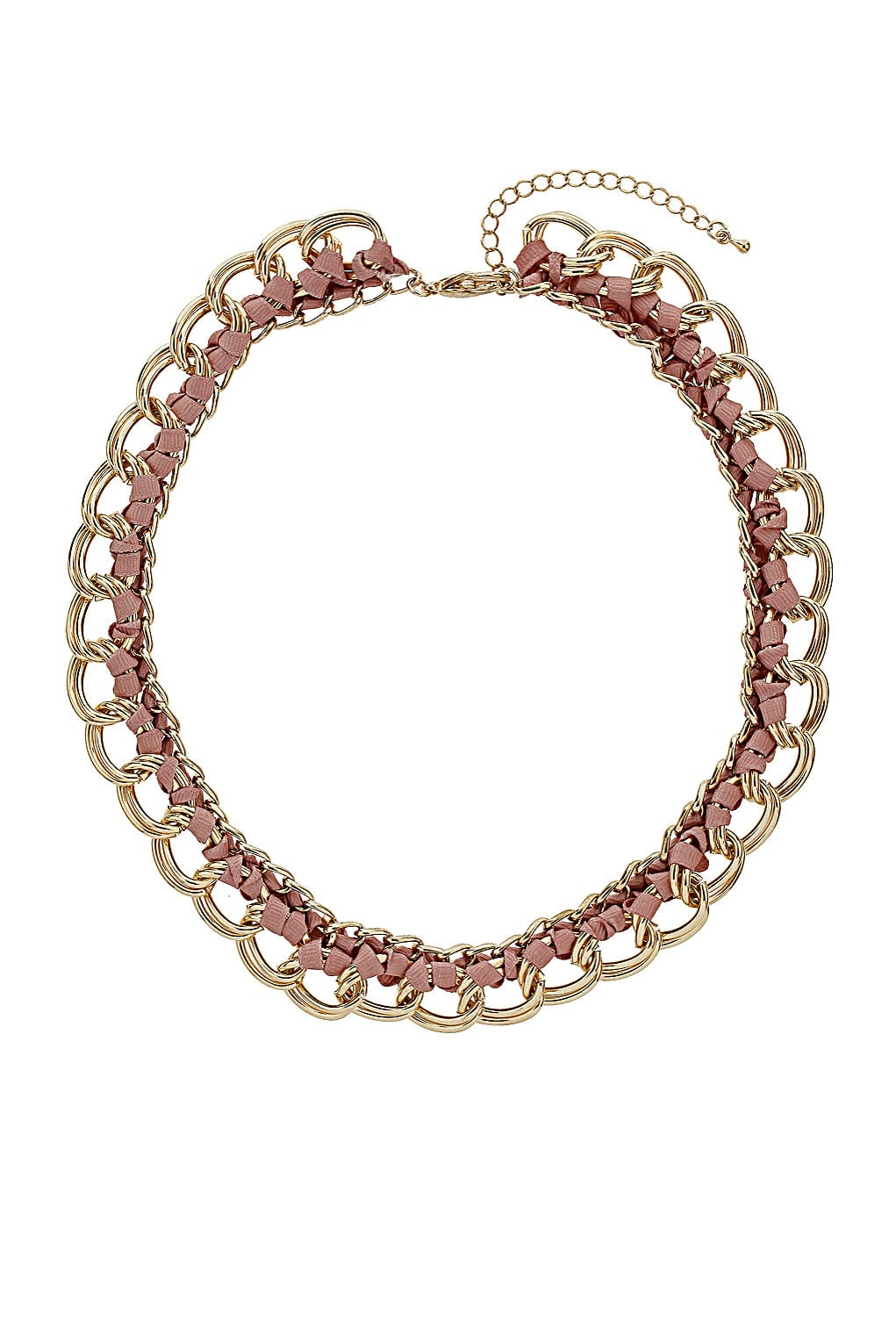 Just a hint of pink ribbon makes this Topshop Ribbon Chain Link Necklace ($30) just a tad girlier than the rest, perfect for pairing with a basic white t-shirt.