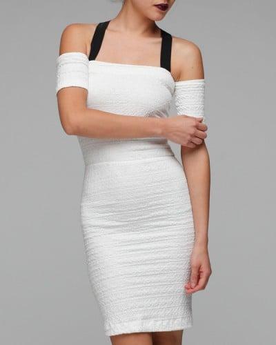 Cross Neck Smocked Dress ($265)