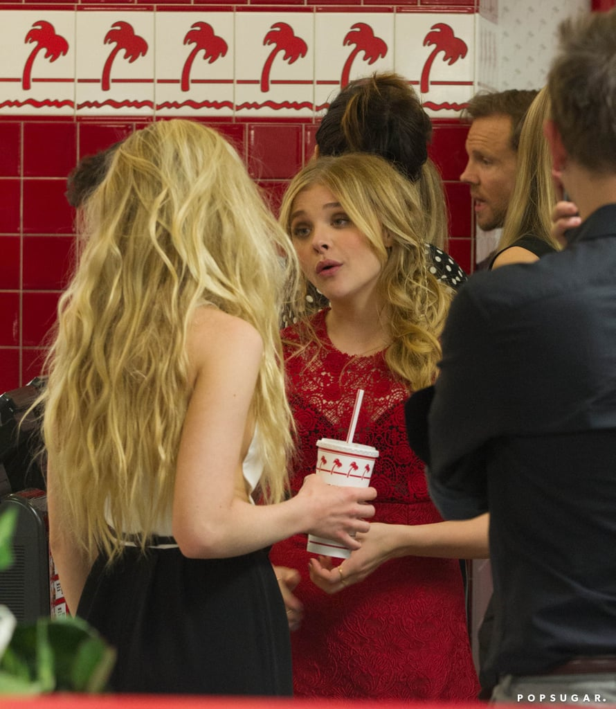 Chloë Moretz chatted with Portia Doubleday in line at In-N-Out Burger.