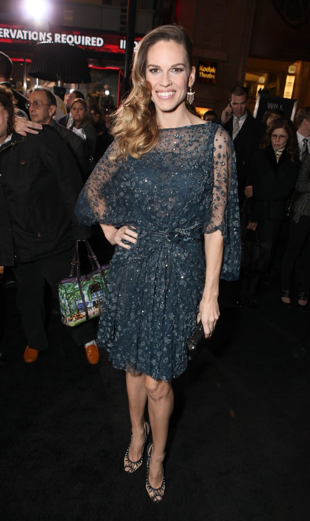 Hilary Swank stepped out at the LA premiere of New Year's Eve.