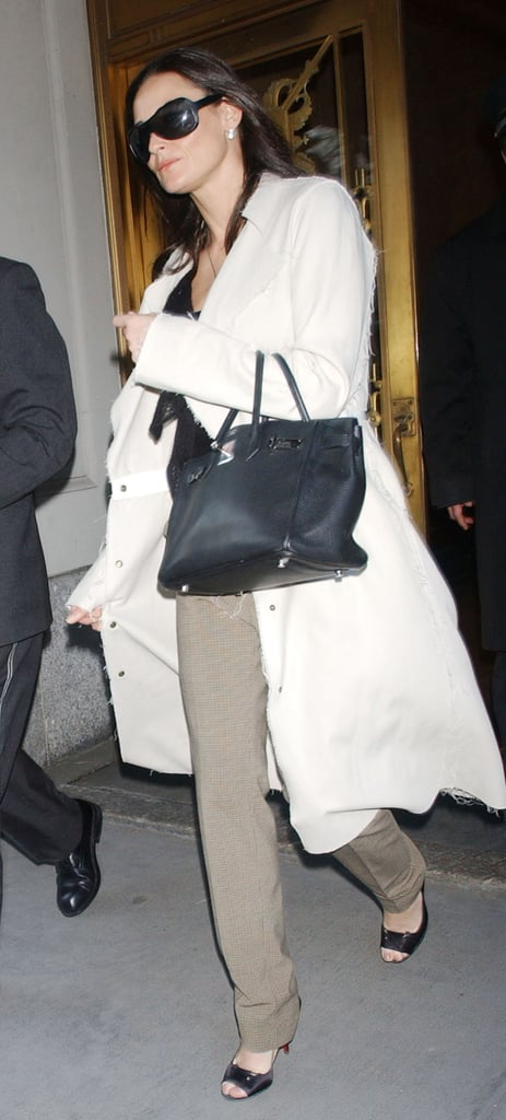 Enviably chic while visiting NYC in 2005.