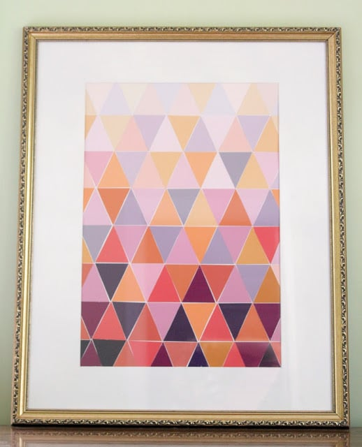 Paint Chip Triangle Art