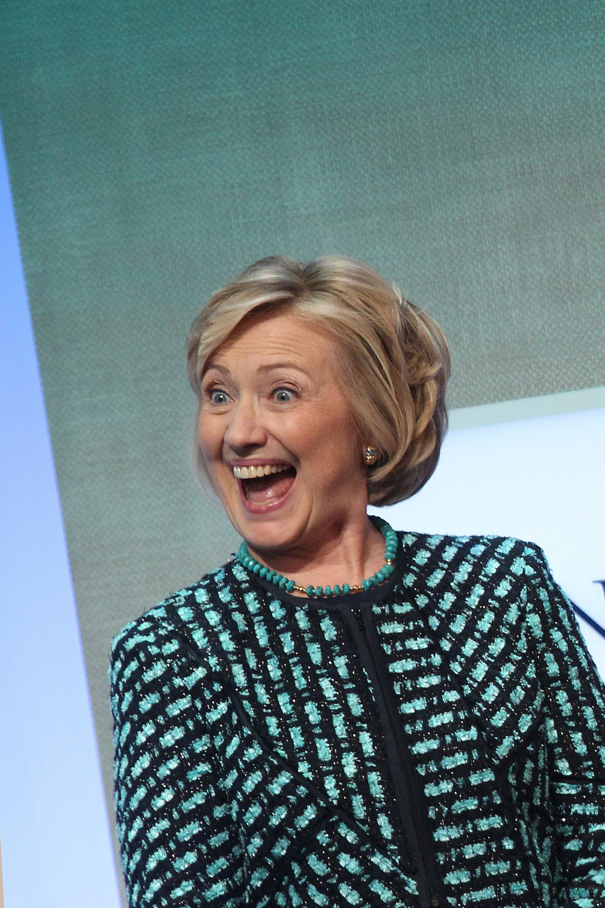 """At the CGI, Hillary Clinton discussed empowering women. She said, """"It's time for a full and clear-eyed look at how far we have come, how far we still have to go and what we plan to do together about the unfinished business of the twenty-first century the full and equal participation of women."""""""