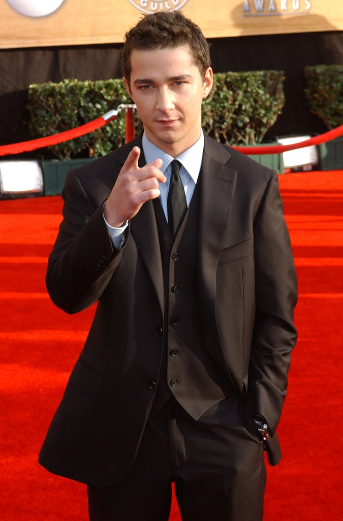 He posed for photos on the red carpet at the SAG Awards in January 2007.