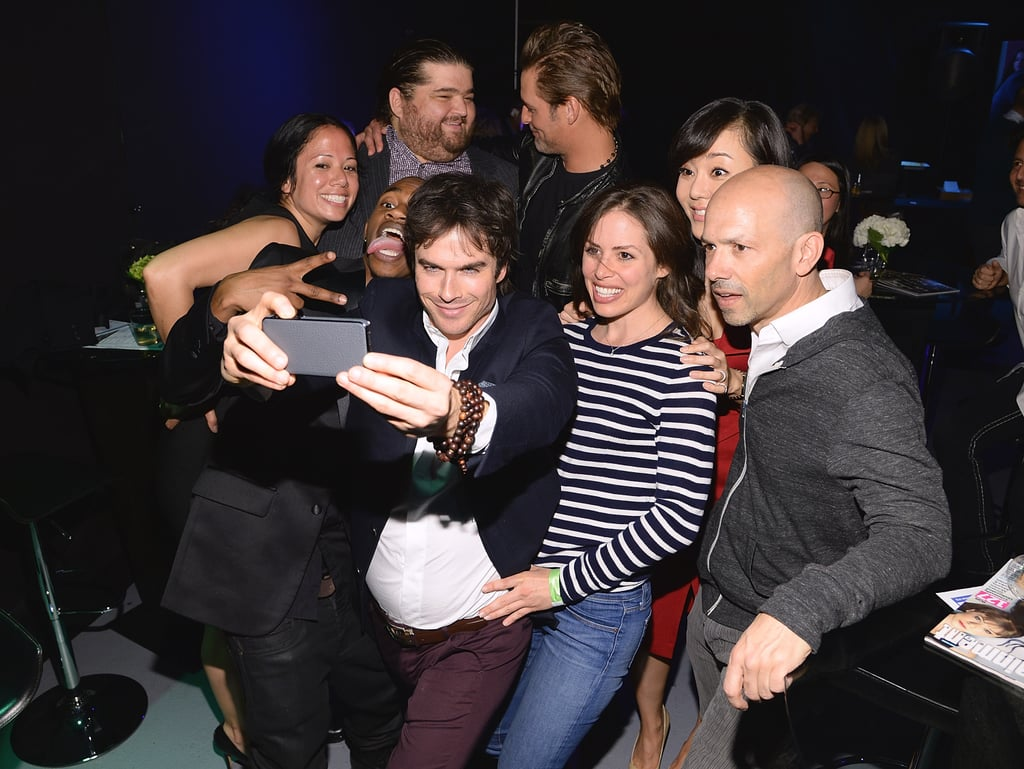 Ian Somerhalder took a selfie with his Lost castmates at PaleyFest in LA in March 2014.