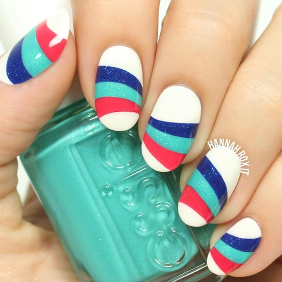 Wavy Striped Nail Art Tutorial