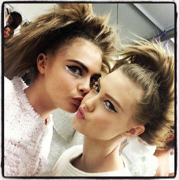 Cara Delevingne and Lindsey Wixson