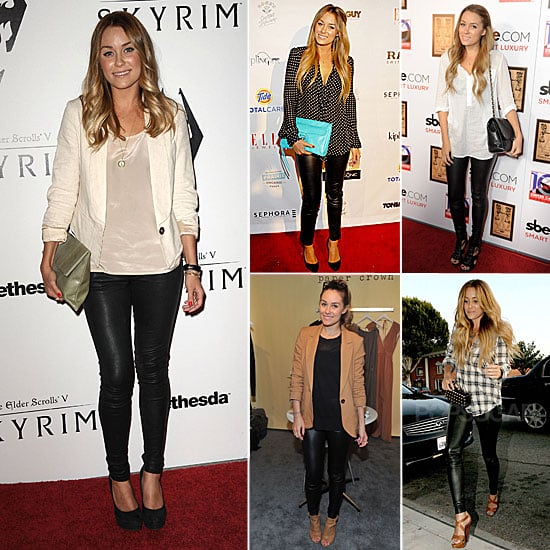 Lauren Conrad Wearing Leather Leggings Fall 2011