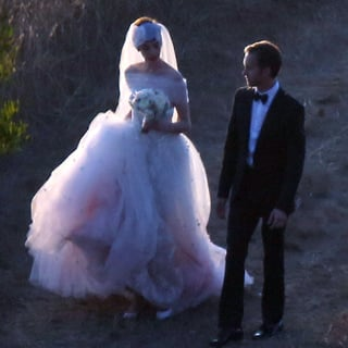 Anne Hathaway's Valentino Wedding Dress And Tulle Headpiece