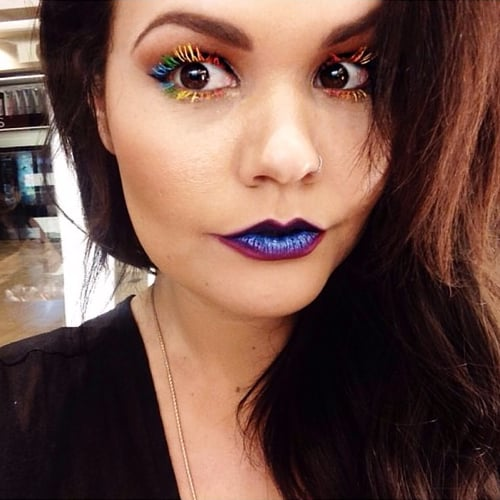 Real-Girl Rainbow Lashes | Instagram