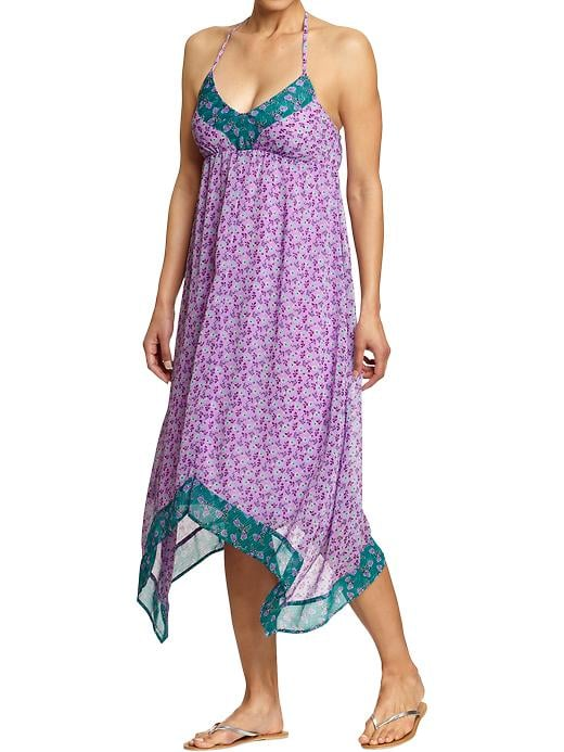 Slip this on for cocktail hour with a few standout bangles.  Old Navy Printed-Chiffon Handkerchief Dress ($29, originally $35)