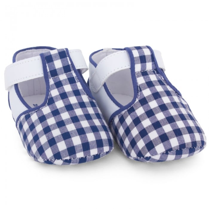 Go gingham head to toe with Mayoral's soft-soled gingham velcro shoes ($19).