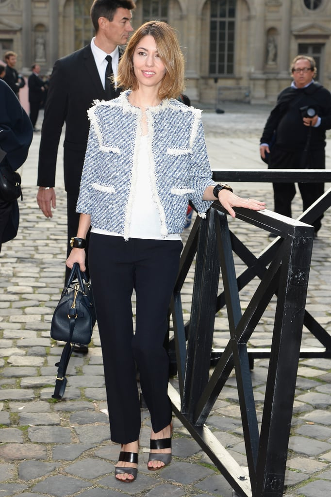 Sofia Coppola made her appearance in support of Marc Jacobs's last show for Louis Vuitton.