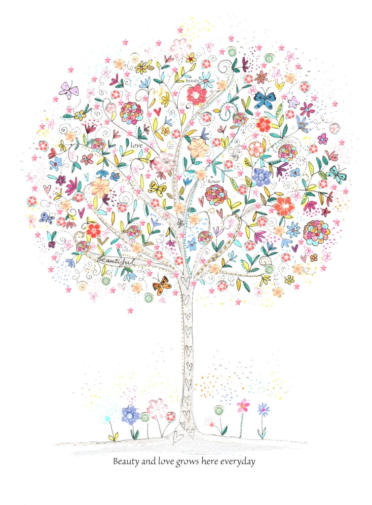 """With the saying """"beauty and love grows here every day,"""" this beauty and love print ($16) will bring sweet sentiments to your little one's space."""