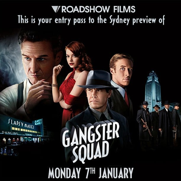 Jess caught a viewing of Gangster Squad, starring Ryan Gosling and Emma Stone, and said it was violent and funny. Not at the same time, obviously.