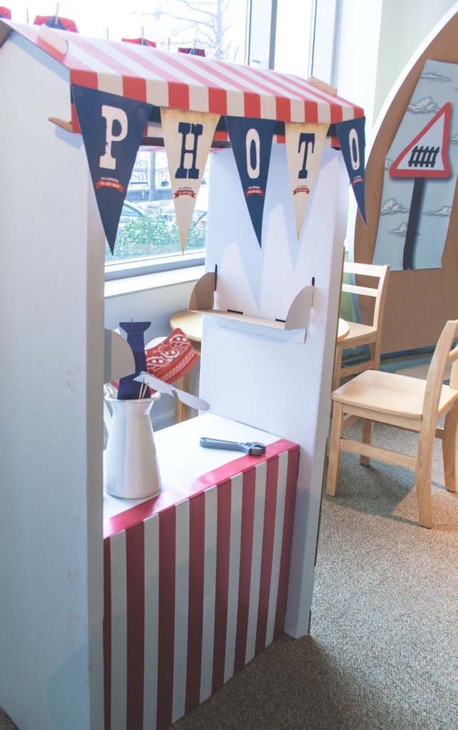 """[My favorite touch was] definitely the photo booth! We took a simple Ikea stock market stand and decorated it with our own colors to match the theme. We added a flag garland, and it looked spectacular,"" Keren said. Source:  Clay Williams and Alex Nirenberg for Keren Precel Events"