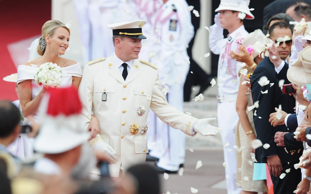 Prince Albert II wed Princess Charlene at the Prince's Palace of Monaco on July 2, 2011.