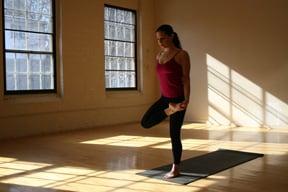 YOGA CHALLENGE:  Standing Half Bound Lotus