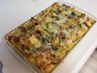 Today's Special: Strata with Sausage and Sun-Dried Tomatoes