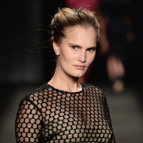 Monique Lhuillier Fall 2014 Hair and Makeup   Runway Picture
