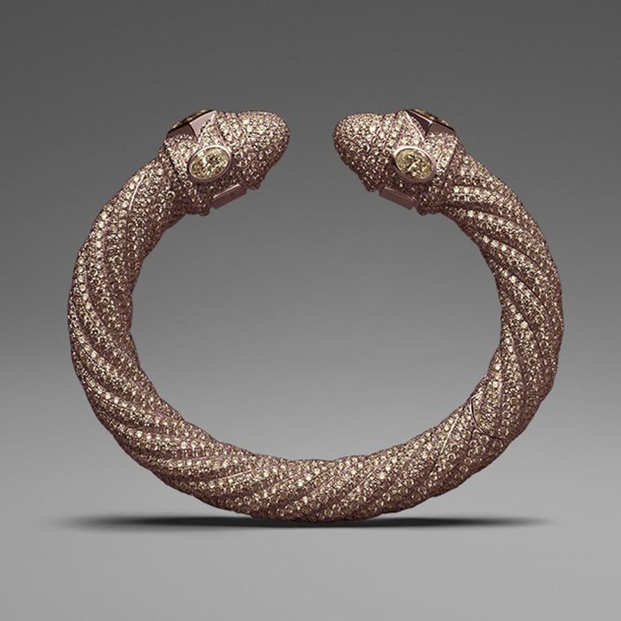 David Yurman Brown Diamond Pavé Cable Bracelet