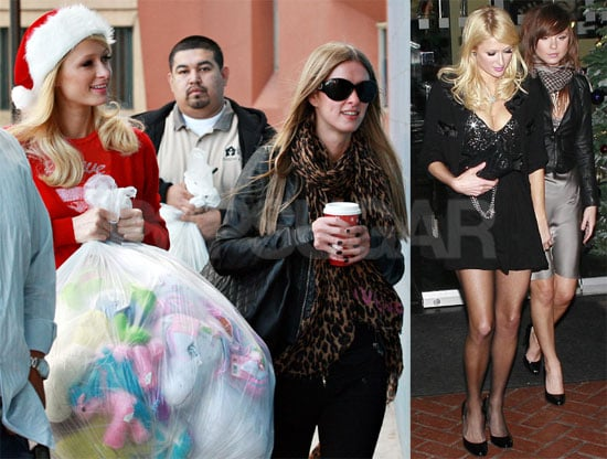 Photos of Paris Hilton Giving Gifts at a Rescue Mission in LA