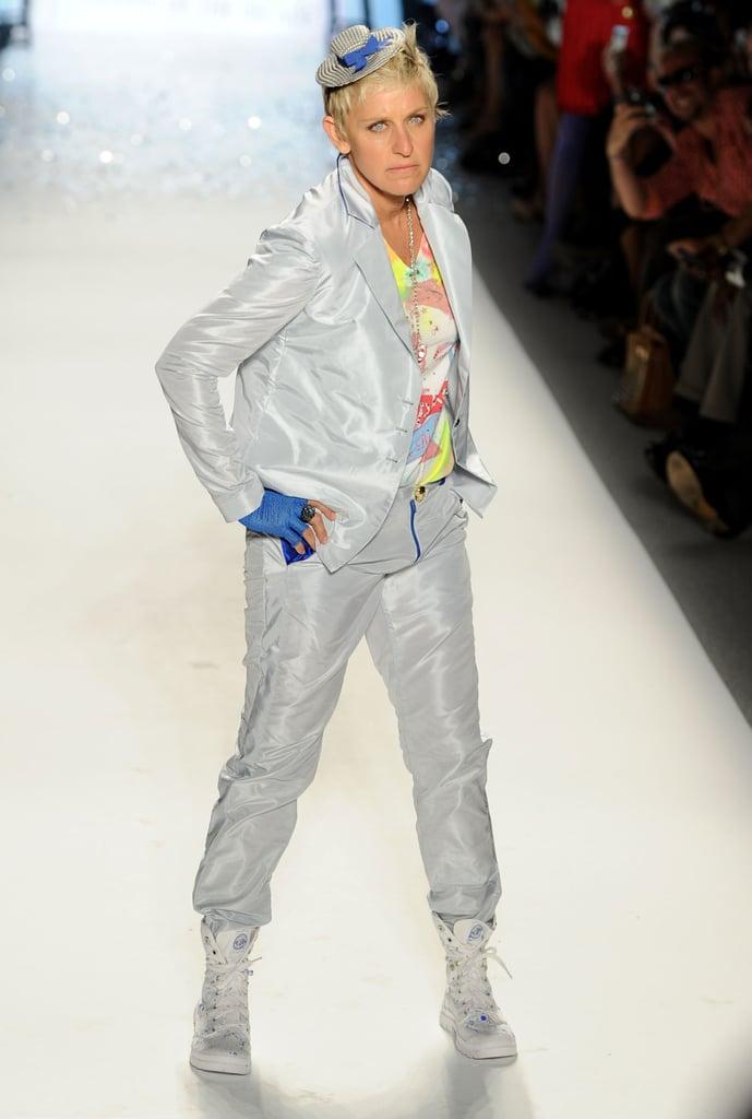 Ellen DeGeneres showed off her runway moves in Richie Rich's September 2011 show.
