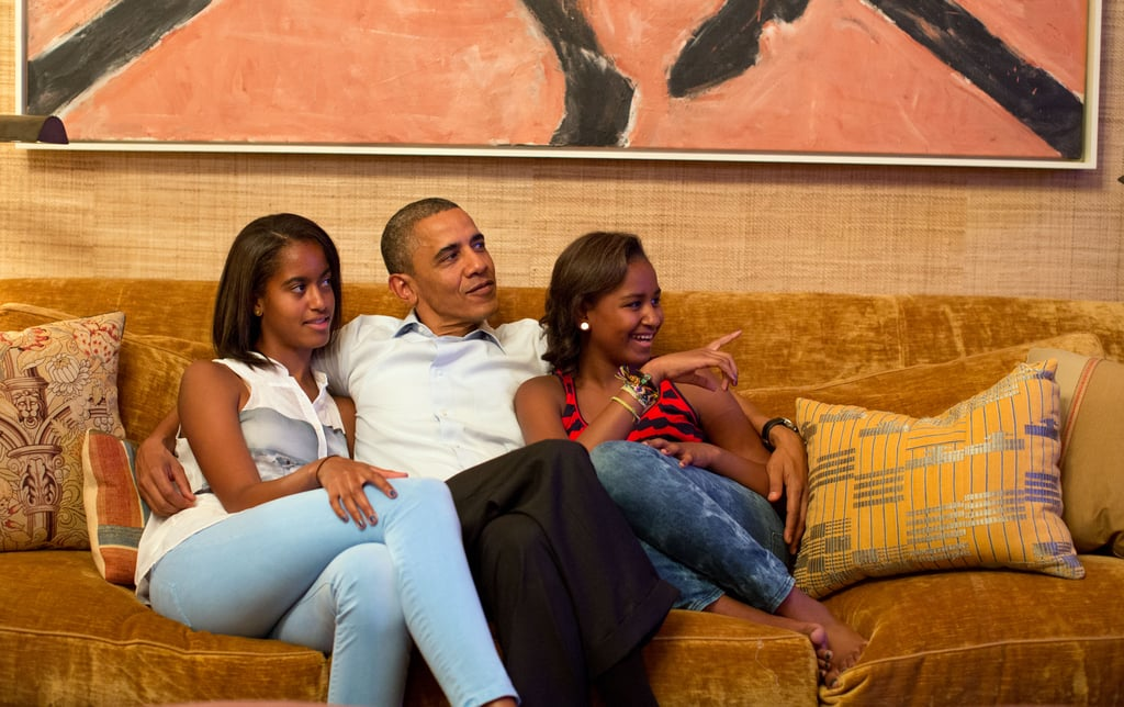 "In Obama's 2012 Father's Day speech, he offered insights into a father's role: ""For many of us, our fathers show us by the example they set the kind of people they want us to become. Whether biological, foster, or adoptive, they teach us through the encouragement they give, the questions they answer, the limits they set, and the strength they show in the face of difficulty and hardship."""