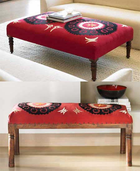 Nice and New: VivaTerra Suzani Bench
