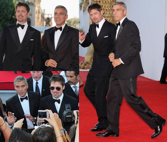 Photos of Brad Pitt and George Clooney at Burn After Reading Venice Film Festival Premiere
