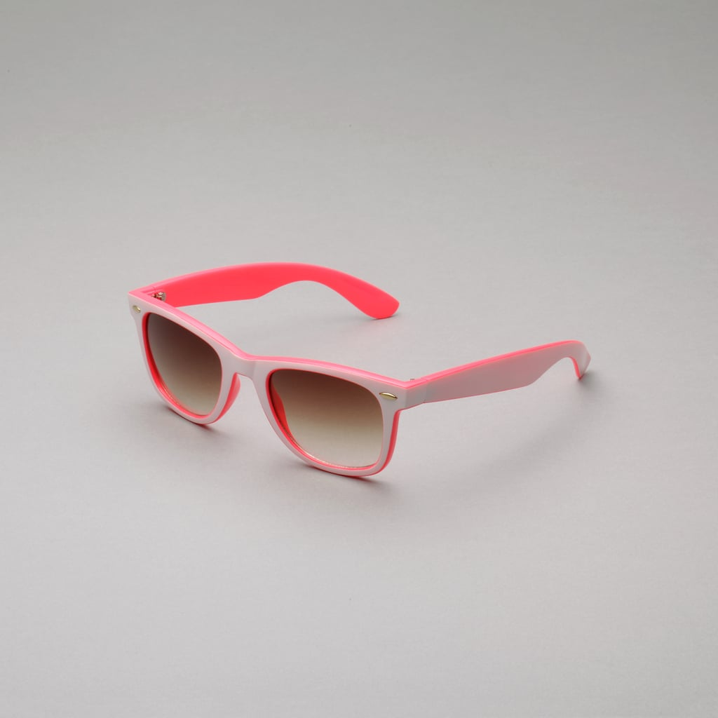A girl can never have too much pink, and these two-toned Joe Boxer shades ($10) prove it.