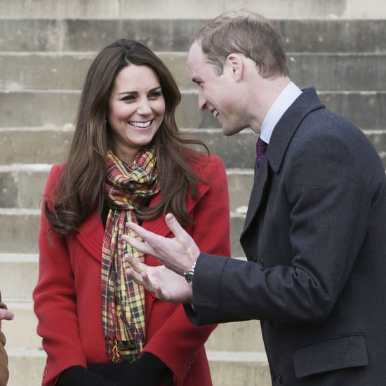 Pregnant Kate Middleton With Prince William and Charles