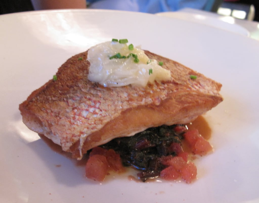 Crispy Skin Snapper, Sweet & Sour Chard, Tomato Brown Butter