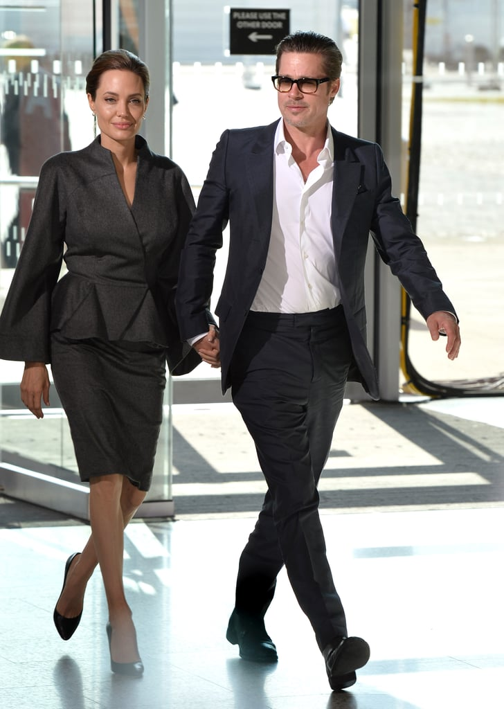 On Thursday in London, Angelina Jolie and Brad Pitt walked hand in hand at the Global Summit to End Sexual Violence in Conflict.