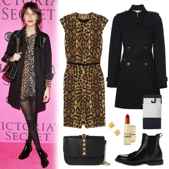 Alexa Chung Leopard Dress Outfit Inspiration