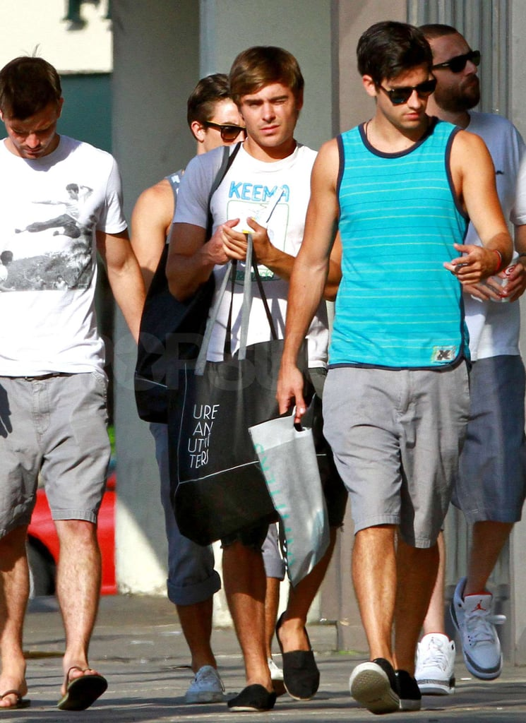 Zac Efron toted some shopping bags in LA.
