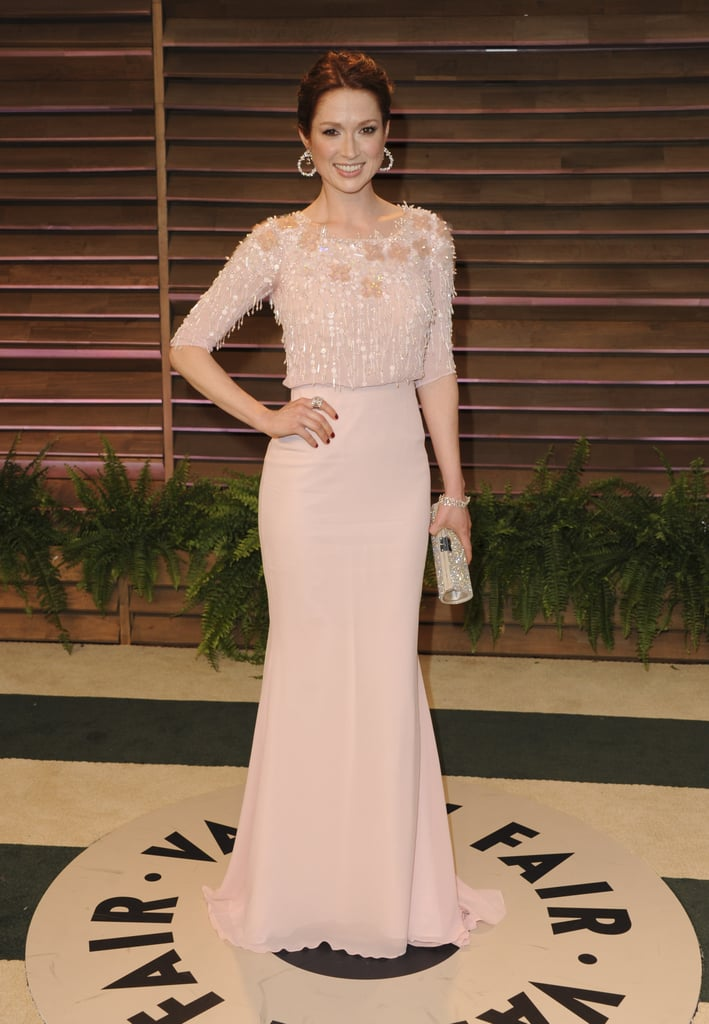 Ellie Kemper popped up at the Vanity Fair Oscars party.