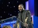 Idris Elba accepted his Britannia humanitarian award during the ceremony.