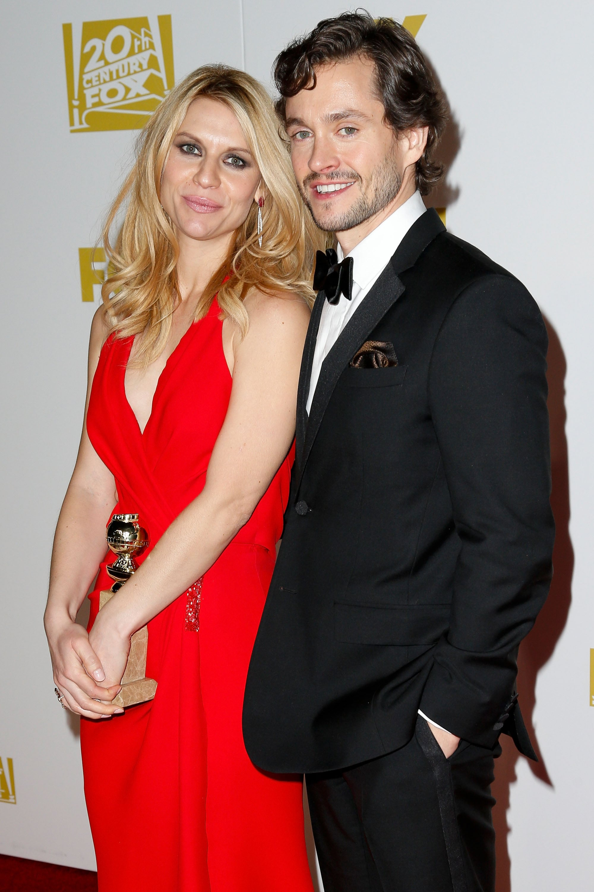 Claire Danes and Hugh Dancy celebrated after the 2013 Golden Globes.